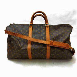 Auth Louis Vuitton Keepall 50 Brown #7471L45